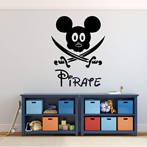 Pirate Mickey Mouse with Swords Wall Decal - Vinyl Home Decor for Kids Bedroom or ()