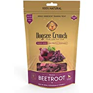 Dogsee Crunch Natural Beetroot & Grain Free Dog Treats - Freeze-Dried Dog Training Treats for All Breeds - Helps Boosts Your Dog's Energy - 1.1 oz of Natural Dog Treats Per Bag