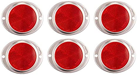 Peterson Manufacturing V472R Red 3 Aluminum Oval Reflector