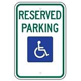 Federal Handicap Parking Sign (R7-8) 12