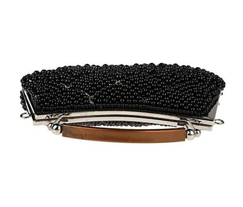 Beads Black Bags New Dress Clutch Bags Party Bags Bag Fashion Bridal WenL Handbags Bridesmaids Bags Evening 5UHTwq