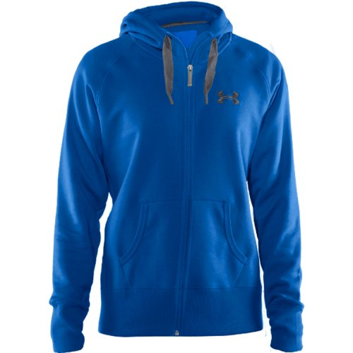 Under Armour Women's Light Charged Cotton Storm Full Zip Hoody (BLUE/GRAY, MD)