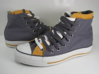 0d27e9be87aa Image Unavailable. Image not available for. Color  Converse CHUCK TAYLOR DOUBLE  UPPER HI TOP CANVAS SHOES