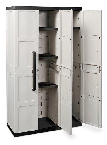 TOOMAX Comfort Line S - Armario, 3 puertas, 4 estantes: Amazon.es: Jardín