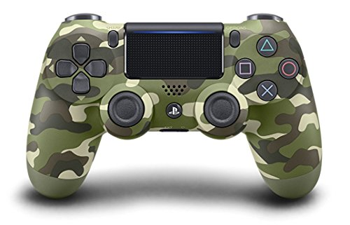 Green Camo Custom PS4 Rapid Fire Custom Modded Controller 40 Mods for All Major Shooter Games, Auto Aim, Quick Scope, Sniper Breath, Jump Shot, Active Reload & More (CUH-ZCT2)