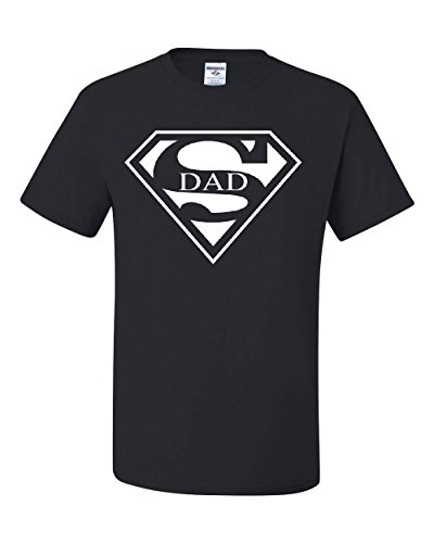 Super Dad T-Shirt Funny Superhero Father's Day Tee Shirt Black -