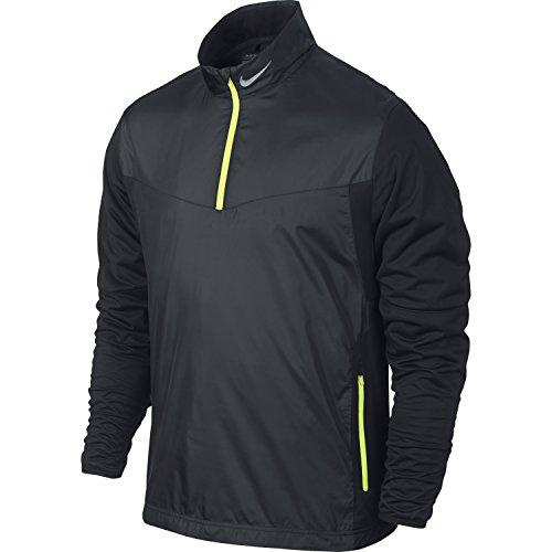 Nike Men's Golf Shield 1/2 Zip Top, Black, (Nike Windproof 1/2 Zip Jacket)