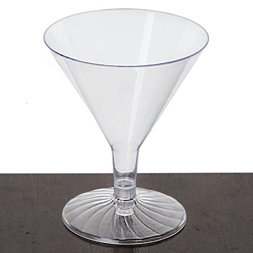 (Efavormart 60 Pcs - Clear Marvelous 4oz Disposable Plastic Martini Glass for Wedding Birthday Party Banquet Events Cocktail Cups)