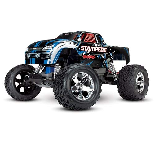 Traxxas Stampede 1/10 2WD Monster Truck with TQ 2.4GHz Radio, Blue, 1:10 Scale (Traxxas Cars)