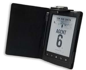 La funda Sony PRS T2 con luz incorporada de Gecko Covers de color negro para la eReader Sony PRS T2