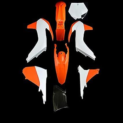 Carenado de plástico ABS Cubierta Lateral del Guardabarros Delantero Trasero Guardabarros Lateral Set de Soportes para matrícula SX XC XC-W SXF XCF XCFW XCW SX-F 125-450