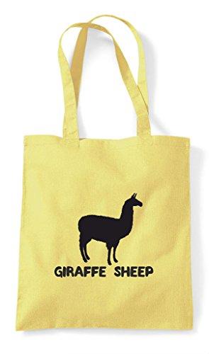 Funny Animal Sheep Cute Bag Giraffe Themed Names Tote Llama Alternative Shopper Lemon ntYdw4fUqY