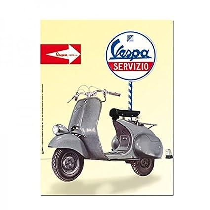 Vespa Vintage Tin Poster - Servizio