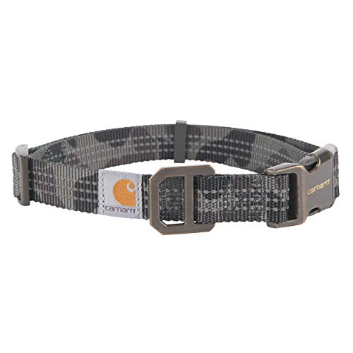 Carhartt Pet | Fully Adjustable Webbing Collar for Dogs | Reflective Stitching for Visibility