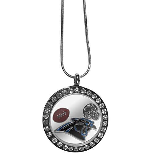 Siskiyou NFL Carolina Panthers Womens Locket Necklace, Metal, 18