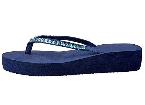 Flip Zeppa Blu Flops Minetom Infradito Piattaforma Sandali Ciabatte Flat Donna Slim E xqTx47