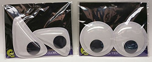 Glow In The Dark Googly Eyes 2 Pairs Halloween Decoration
