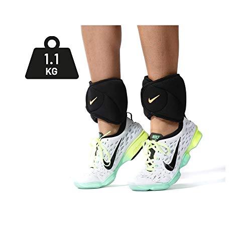 Nike Ankle Weights, 2.5 lb 1.1 kg Each, Black Black Volt Set of 2