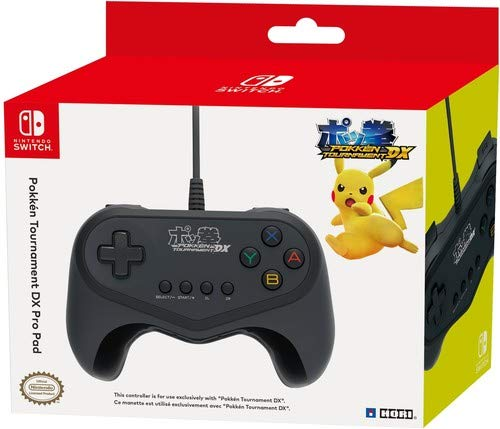 HORI Nintendo Switch Pokken Tournament DX Pro Pad Wired Controller Officially Licensed by Nintendo and Pokemon (Best Japanese Gamecube Games)