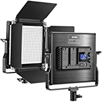 Neewer Upgraded 660 LED Video Light Dimmable Bi-Color LED Panel with LCD Screen for Studio
