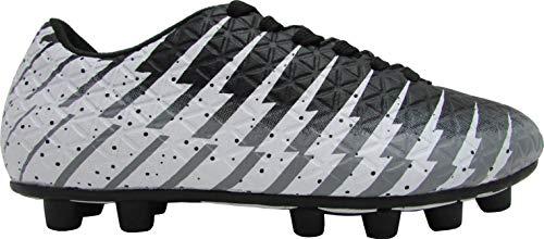 0e3e82d326c Vizari Baby Bolt FG Black White Silver Size 10 Soccer Shoe