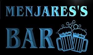 w118656-b MENJARES Name Home Bar Pub Beer Mugs Cheers Neon Light Sign