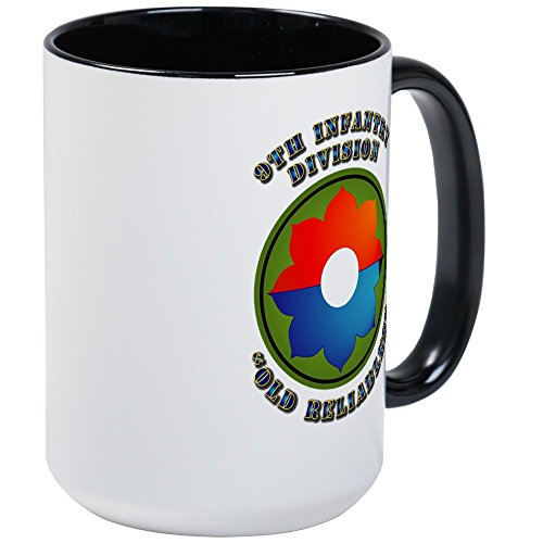 Infantry Division Coffee Mug (CafePress - Army - SSI - 9Th Infantry Division Large Mug - Coffee Mug, Large 15 oz. White Coffee Cup)
