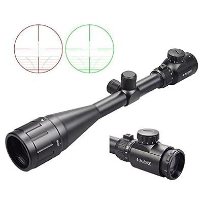 UpgradeX-Aegis Rifle Scopes with Sun Shade & Rubber Eyeshade 6-24x50 AOE Red & Green Illuminated Scope from XAegis