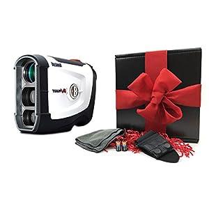 Bushnell Tour V4 (Standard Version) Patriot Pack Gift Box Bundle Golf Rangefinder, Magnetic Cart Mount, PlayBetter Microfiber Towel, Protective Case/Skin & Two (2) CR2 Batteries