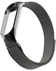 Metal Magnetic Stainless Steel strap for Xiaomi Mi Band 5 Mi Smart Bracelet Black