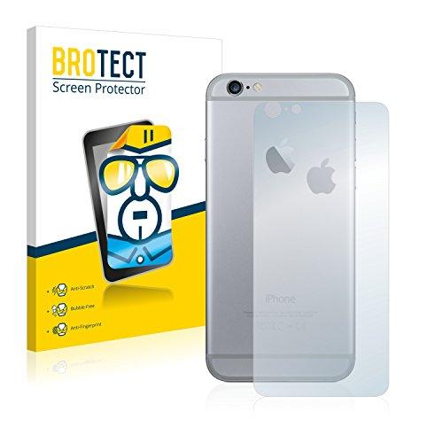 2x BROTECT HD-Clear Pellicola Protettiva Apple iPhone 6S Plus Posteriore (totale + LogoCut) Schermo Protezione – Trasparente, Anti-Impronte