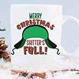Merry Christmas Shitter's Full Funny Coffee Mug | Microwave and Dishwasher Safe Holiday Cup