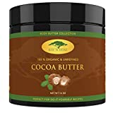 Unrefined Organic Cocoa Butter Raw/Food Grade Perfect for Skin Care, Keto Snacks, Lip Balm, Body Lotion, Stretch Mark Cream, Bar Soap, Body Butter, Hair Care, Cacao Butter Soap Making Base (16 oz) by Rise 'N Shine Online