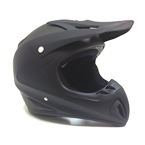 Adult Motorcycle Off Road Helmet DOT - MX ATV Dirt Bike Motocross UTV - Flat Matte Black SMALL Includes Goggles ()