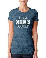 Hot Ass Tees Womens Fitted I Am Sherlocked Sherlock Holmes Inspired T-shirt