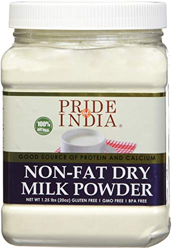 Pride Of India – Nonfat Dry Milk Powder – Protein & Calcium Rich – 1.25 lbs (20oz) Jar