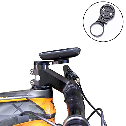Thinvik Bicycle Out-Front Mount Stem Headset Mount for Wahoo Mini Wahoo Elemnt & Elemnt Bolt,Elemnt Roam GPS Bike Computer – Angle Adjustable