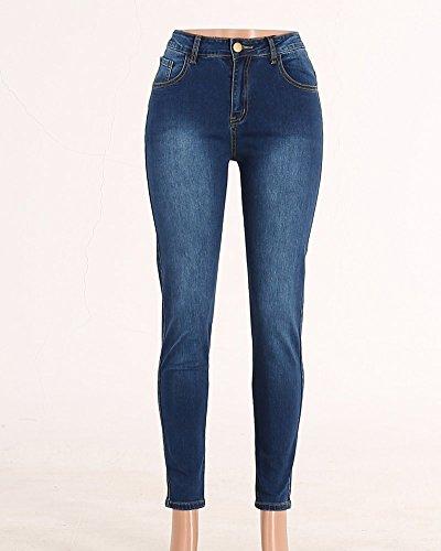 Imagen Estilo Jeans Ocio Pantalones Fit Vaqueros Cintura La Delgado Flaco Como Alta 6Pq086