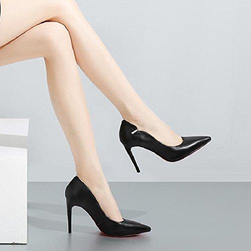 Zapatos Tacones De Solo Zapatos Mujer Punta Zapatos Zapatos Mujer GAOLIM Mujer De De Negro Con Fina Altos Zapatos Mujer Mujer De 704xpFxq