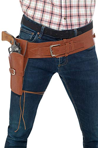 Smiffys Cowboy Costume Holster with Belt - Brown