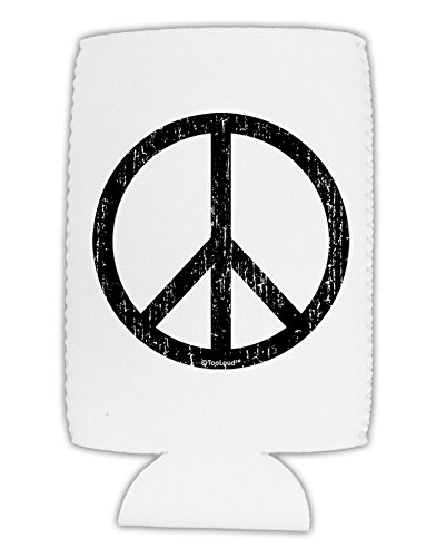 TooLoud Peace Sign Symbol - Distressed Collapsible Neoprene Tall Can Insulator (Sign Trendy Peace)