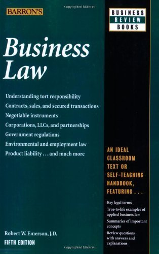 Business Law (Barron's Business Law) by Robert W. Emerson J.D. (2009-10-01)