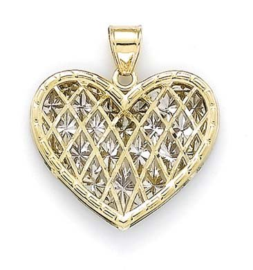 Illusion 14 Carats Pendentif Coeur-JewelryWeb