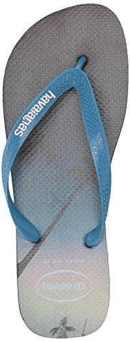 Havaianas Men's HypeFlip Flop Sandal,Navy Blue/Blue Star/White, 43/44 BR(12-13 M US Women's / 11-12 M US - Havaianas Embossed Sandals
