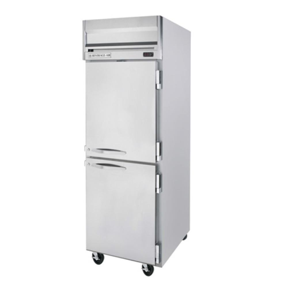Beverage-Air HFP1-1HS Horizon Series One Section Solid Half Door Reach-In Freezer 24 cu.ft. capacity Stainless Steel Front and Sides Aluminum
