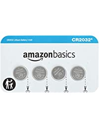 CR2032 3 Volt Lithium Coin Cell Battery, 4 Count