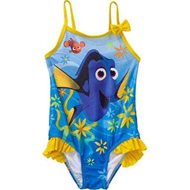 Toddler Girls Finding Dory One Piece Swimsuit Size 5T (Piece Disney Swimsuit One)