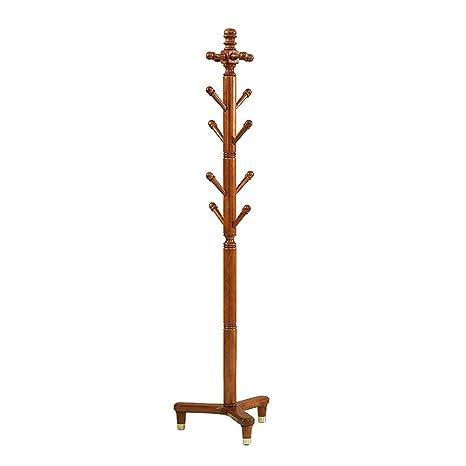 Amazon.com: ZXQZ - Perchero de madera maciza con 12 ganchos ...