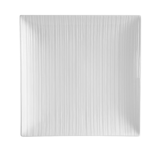 CAC China SUS-SQ16 Sushi Signature 10-1/2-Inch Bone White Porcelain Square Plate, Box of 12