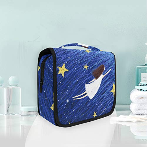 574d4f02583b Mr.XZY Toiletry Bag Girl Flying Night Sky Multifunction Cosmetic Bag Big  Star Shining Galaxy Fairy Tale Fantasy Special Portable Makeup Pouch Travel  ...